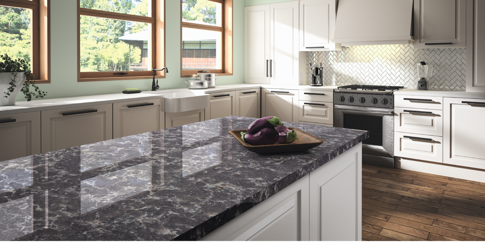 Designer collection 2017 quartz coarian granite for Kitchen countertop planner