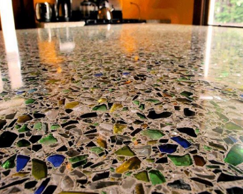 Recycled Glass Countertops Vancouver Rjs Stonetops